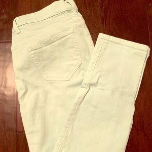 Victoria's Secret Mint Colored Midi Jeans